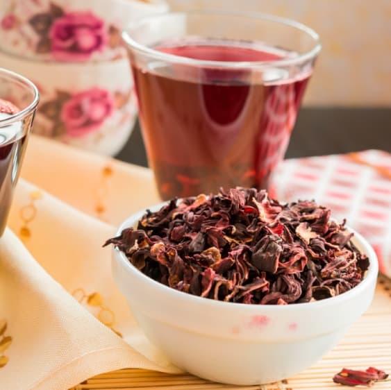 Warm Hibiscus Tea