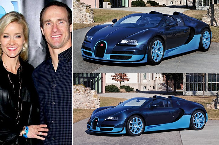 Drew Brees Brittany Brees Bugatti Veyron 2.2 Million