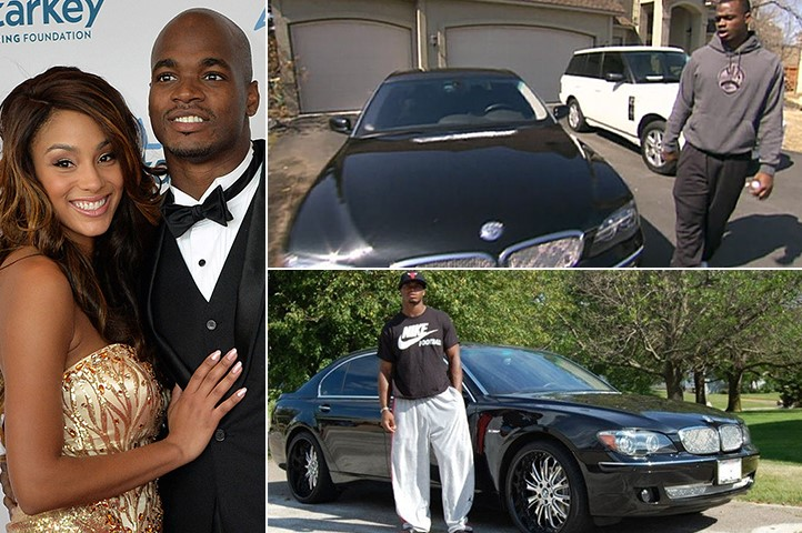 Adrian Peterson Ashley Brown BMW 7501 82K