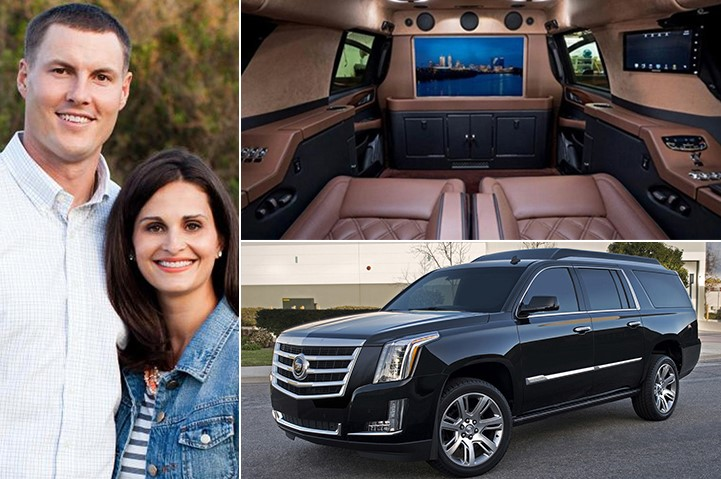 Philip Rivers Tiffany Rivers Cadillac Escalade 200K
