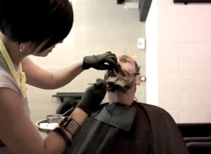 Shaping His Beard