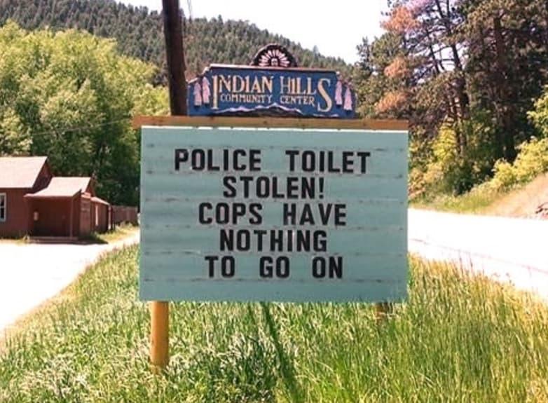 Stolen Toilet